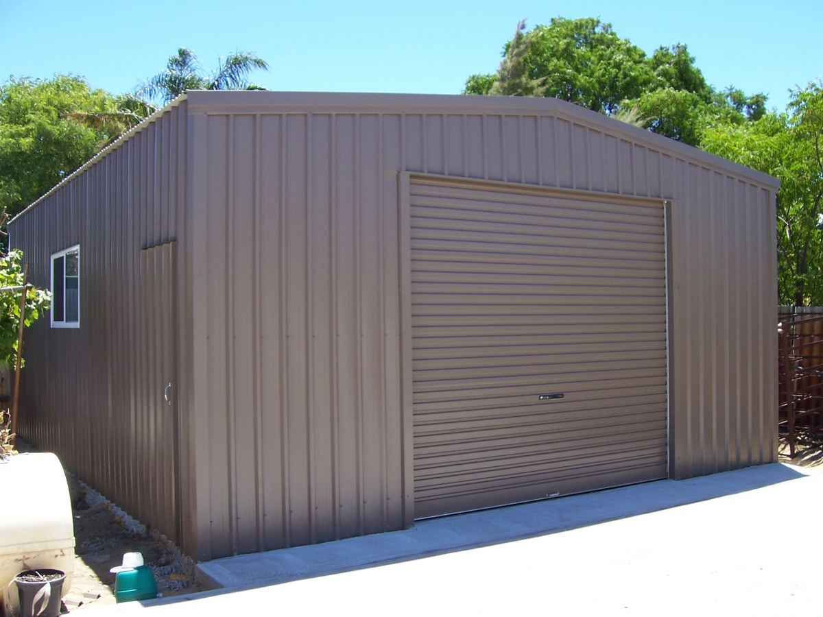 Sheds perth garage doors perth nwsm for Shed with garage door