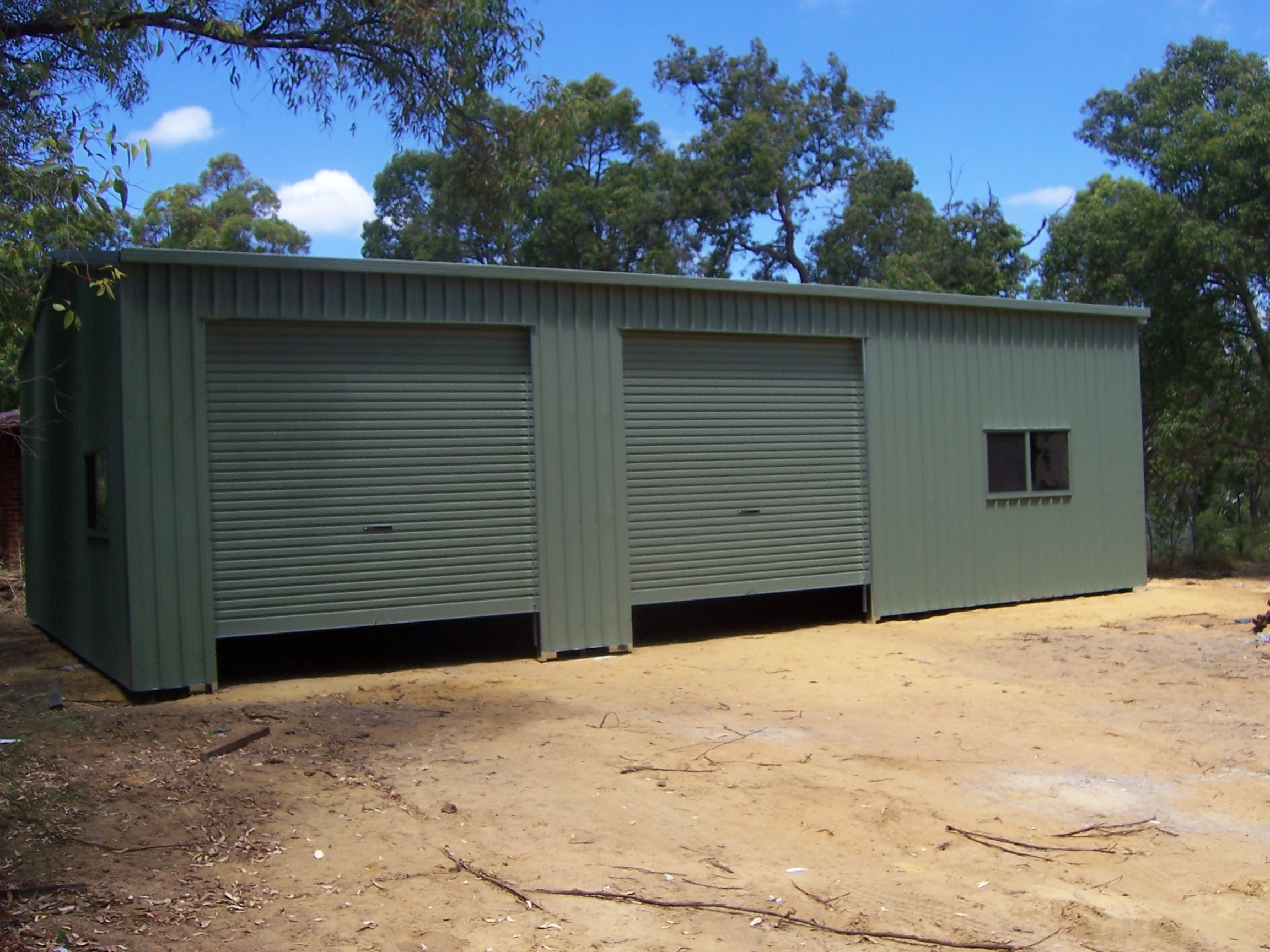 front tas littleballa garage sheds rd with sa vic garages qld nsw steeline all projectsview awning